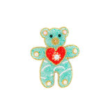 Bear from beads as decoration. Stock Images
