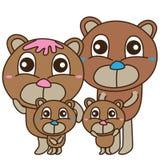 Bear bear family cute vector illustration