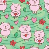 Bear bear love seamless pattern Stock Images