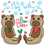 Bear bear play Royalty Free Stock Photos