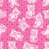 Bear Bear Seamless pattern_eps Royalty Free Stock Images