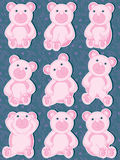 Bear Set_eps Royalty Free Stock Photos