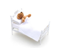 Bear in bed. Royalty Free Stock Image