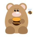 Bear and Bee Happy Stock Photo