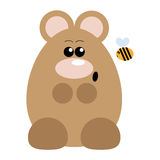 Bear and Bee Surprised. Funny cartoon surprised bear and his bee friend Royalty Free Stock Image