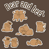 Bear and beer Royalty Free Stock Images