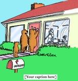 Bear bets Goldilocks will serve porridge Royalty Free Stock Images