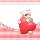 Bear and the big heart2 Stock Images