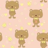 Bear and bird Royalty Free Stock Photos