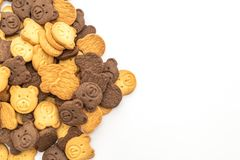 Bear biscuit cracker. On white background royalty free stock image