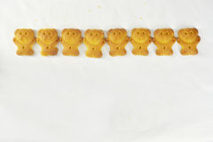 Bear biscuits Royalty Free Stock Photos