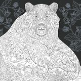 Bear in black and white style Royalty Free Stock Photography