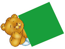 Bear with blank sign Royalty Free Stock Photos