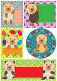 Bear Blank Space_eps Stock Images