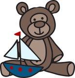 Bear And Boat Stock Photo