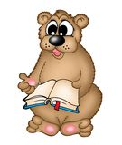 Bear with book. Illustration of bear with book royalty free illustration