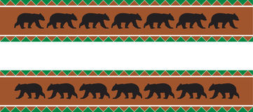 Bear Border Stock Image