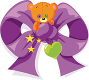 Bear bow illustration Stock Image