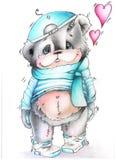 Bear boy stock photo