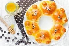 Bear bread buns Stock Image