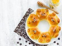 Bear bread buns Royalty Free Stock Image