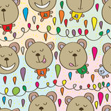 Bear brown seamless pattern Stock Images