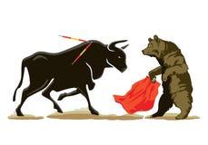 Bear and bull Stock Image
