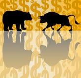 Bear and bull market Stock Photo