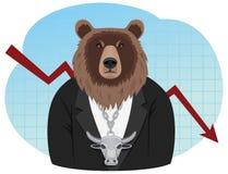 Bear businessman Royalty Free Stock Photos