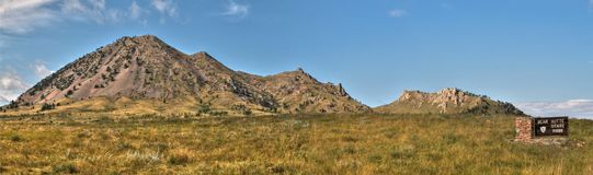 Bear Butte is a State Park in Rural Western South Dakota.  stock images