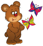 Bear and butterfly Royalty Free Stock Image