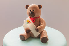 Bear on Cake Royalty Free Stock Photography