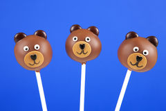 Bear cake pops Royalty Free Stock Photo
