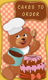 Bear with cake Royalty Free Stock Image