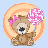Bear with candy Stock Photography