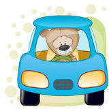 Bear in a car Royalty Free Stock Photography