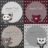 Bear card.Halloween concepts. Royalty Free Stock Photography