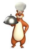 Bear cartoon character Stock Photos