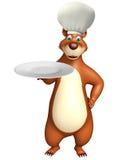 Bear cartoon character Stock Image
