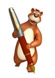 Bear cartoon character with pen Royalty Free Stock Photography