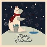 Bear cartoon of Christmas season design Royalty Free Stock Images