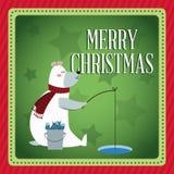 Bear cartoon of Christmas season design Stock Images