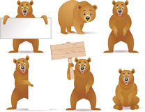 Bear cartoon collection Royalty Free Stock Photography