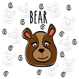 Bear cartoon design, vector illustration Stock Images