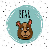 Bear cartoon design, vector illustration Royalty Free Stock Image