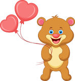 Bear cartoon with heart Stock Photos