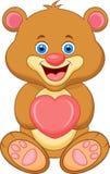 Bear cartoon with heart. Illustration of Bear cartoon with heart Royalty Free Stock Photo