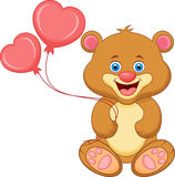 Bear cartoon with heart Stock Photography