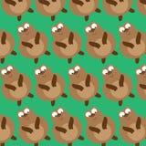 Bear Cartoon Seamless Pattern Stock Photo