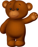 Bear cartoon waving hand Royalty Free Stock Photos